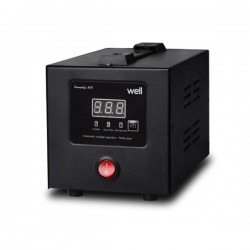AVR-500VA Well Ψηφιακό PowerUP w/LCD Display Black AVR-REL-POWERUP500-WL